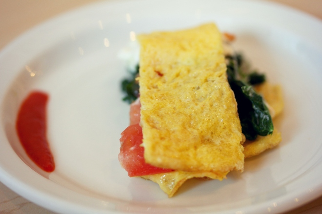 Vegetable omelet at Daisy Cakes--savory goodness!