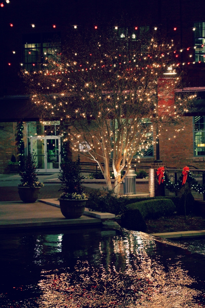 Winter nights in the American Tobacco Historic District are quite lovely.