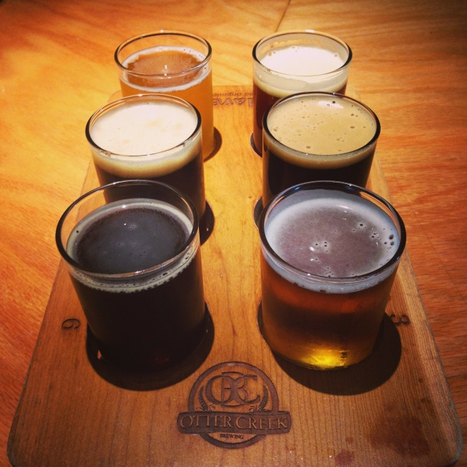 VT knows beer, too.  Otter Creek Brewing satiated my craving for local beer and had my favorite---Porter!