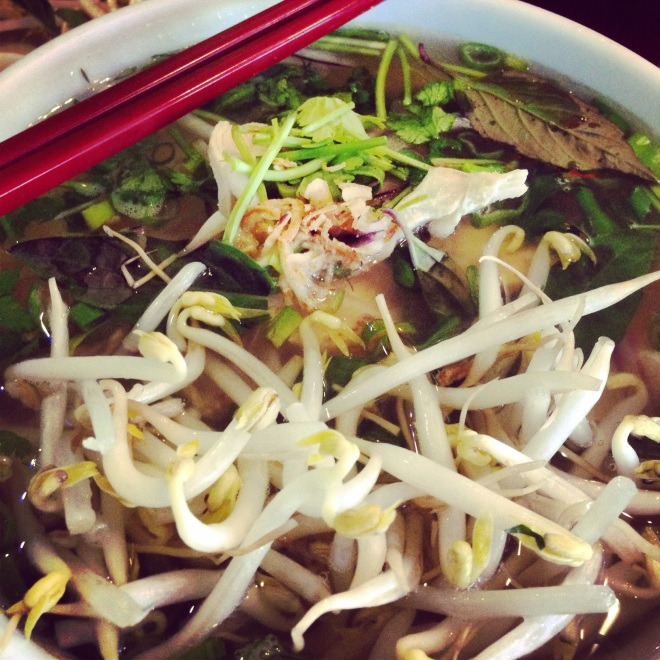 The Pho Ga at Pho Hong was delicious.  The packed house told us this was a winning choice.