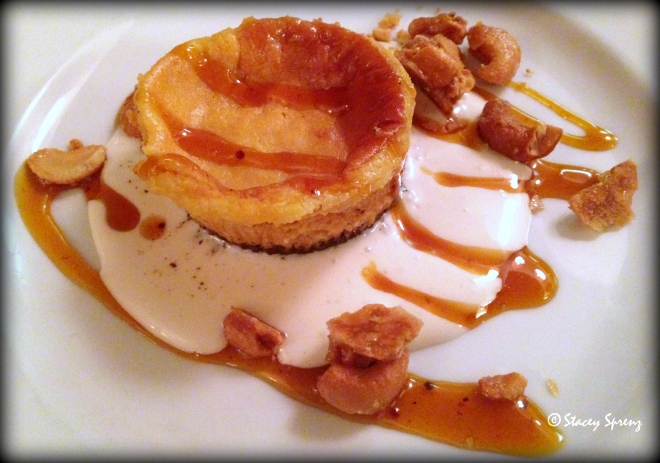 Course 5: Kerala Curry Mango Chutney Hillsborough Cheese Co. Labneh Cheesecake, Marshmallow Sauce, Candied Cashews