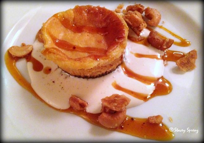 Course 5: Kerala Curry Mango Chutney Hillsborough Cheese Co. Labneh Cheesecake, Marshmallow Sauce, Candied Cashews