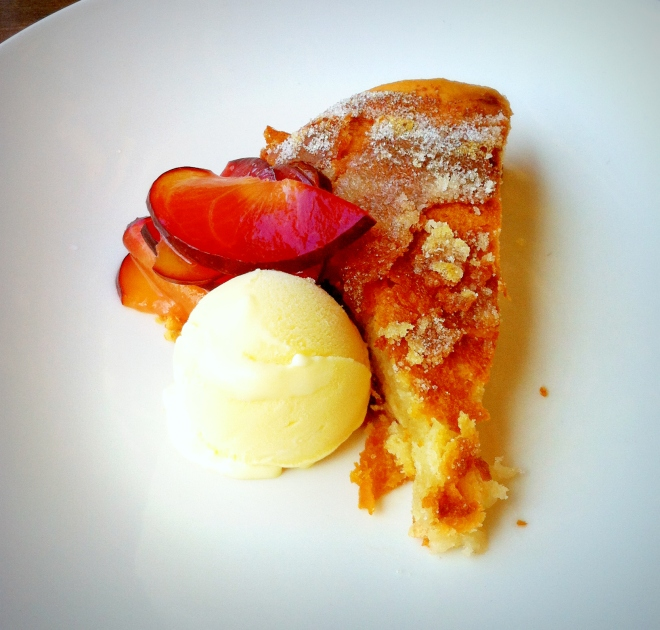 This Breton butter cake with ginger ice cream and stone fruit was decadent.  If you are in La Jolla, CA, go to Whisk n Ladle...please!