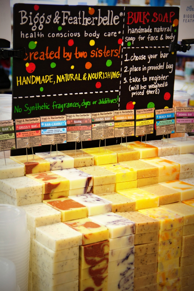 These soaps are one example of an item that is local to one of the over 35 stores.  It is carried in other stores as part of the Earth Fare family products.